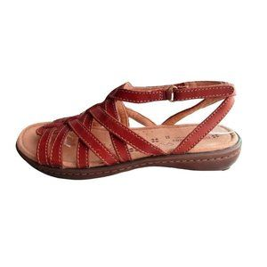 Naturalizer N5 Brown Leather Sandals Size 7W